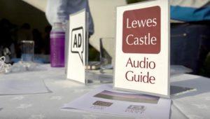 Lewes Castle Audio Guide sign