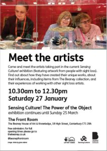 Marketing for Canterbury meet the artist.